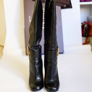 Gucci Leather midi-heel boot